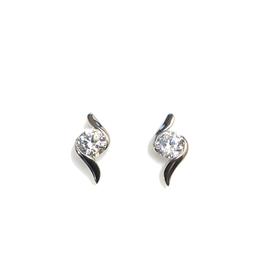 CZ Sterling SIlver Stud Earrings