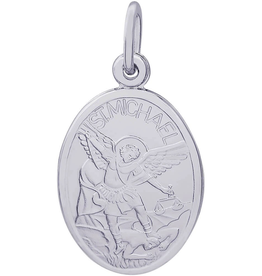 Nuco Sterling Silver St. Michael (Police) Medallion Pendant