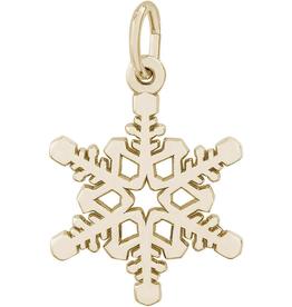 Nuco Yellow Gold Snowflake Charm Pendant (Large)