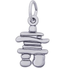 Silver Rhodium Plated Inukshuk Pendant