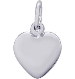 Nuco Nuco Sterling Silver Medium Puffed Heart Charm
