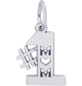 Nuco Silver Rhodium Plated #1 MOM Pendant