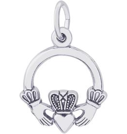 Nuco Silver Claddagh Charm Pendant