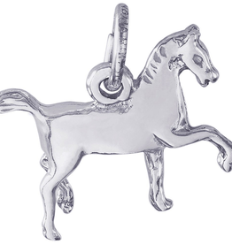 Nuco Silver Rhodium Plated Horse Charm Pendant