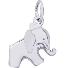 Nuco Silver Rhodium Plated Elephant Charm Pendant