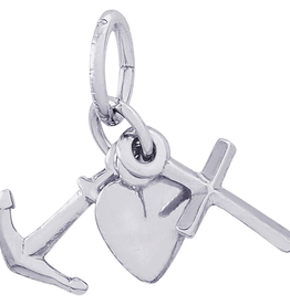 Nuco Silver Faith, Hope and Charity Charm Pendant