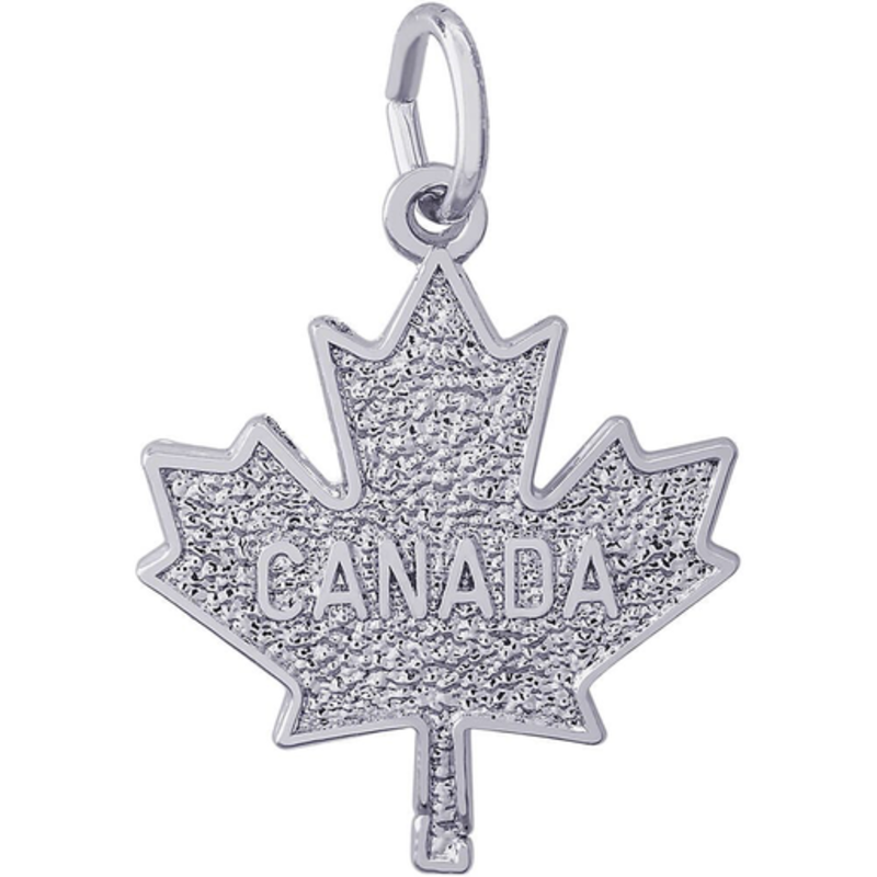 Maple Leaf CANADA Sterling Silver Charm Pendant