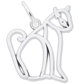 Nuco Nuco Siamese Cat Cut Out Sterling Silver Charm Pendant
