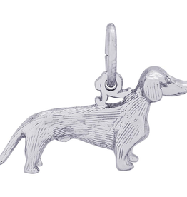 Nuco Silver Rhodium Plated Dachshund Dog Charm Pendant