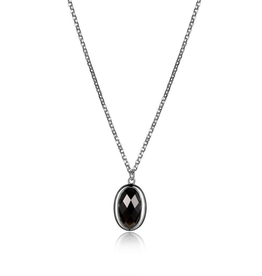 Elle Mystere Collection Checkerboard Obsidian Necklace