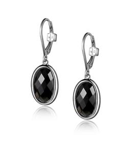 Elle Elle Mystere Checkerboard Obsidian Leverback Earrings