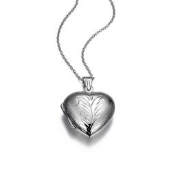 Silver Rhodium Plated Heart Locket
