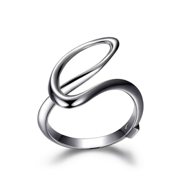 Elle Elle Sterling Silver Eternity Collection Contemporary Ring