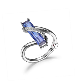 Elle Elle Revolution Tanzanite CZ Ring