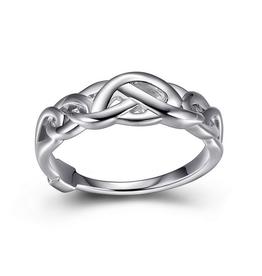 Elle Elle Sterling Silver Celtic Infinity Link Ring