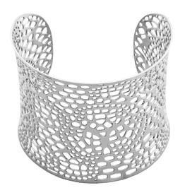 Steelx Steel Fancy Croco Cuff Bracelet
