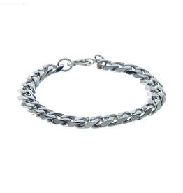 "Steelx Steelx Stainless Steel Mens (9.5mm) Curb Bracelet 9"""