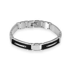 Steelx Steel with Black IP Bracelet