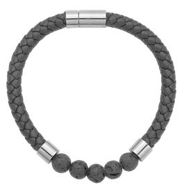 Steelx Steel/Leather/Lava Beads