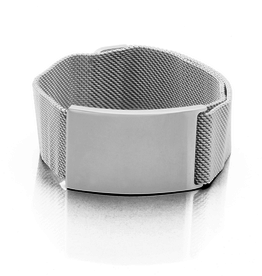 Steelx Stainless Steel Mesh Bracelet with High Polish Finish