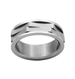 Steelx Stainless Steel Men's Spinner Ring