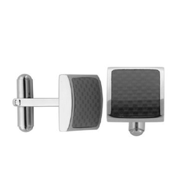 Steelx Stainless Steel Carbon Fiber Cuff Links