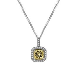 Lafonn Lafonn Canary Princess Sterling Silver Necklace