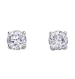 Canadian Diamond Studs (1.03ct) White Gold