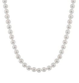 Japanese Akoya Pearl Stranded Necklace (6.5-7mm) White Gold Clasp