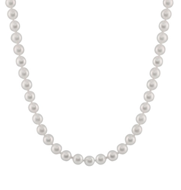 Japanese Akoya Pearl Stranded Necklace (6.5-7mm) Yellow Gold Clasp