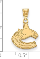NHL Licensed NHL Licensed (Small) Vancouver Canucks 10K Yellow Gold Pendant