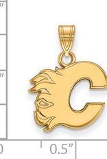 NHL Licensed NHL Licensed (Medium) Calgary Flames 10K Yellow Gold