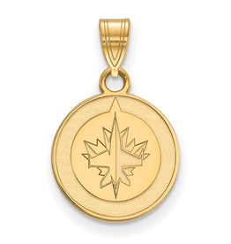 NHL Licensed NHL Licensed (Small) Winnipeg Jets 10K Yellow Gold Pendant