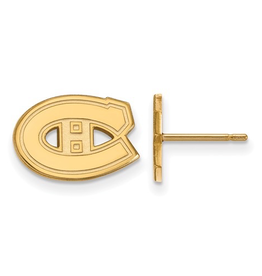 NHL Licensed Montreal Canadiens Stud Earrings 10K Yellow Gold