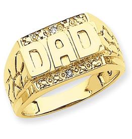 14K Gold DAD Diamond Ring
