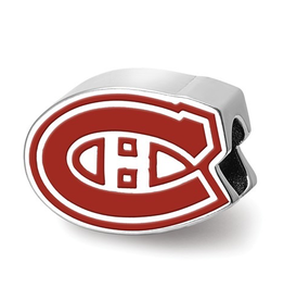 NHL Licensed Montreal Canadiens Enameled Bead