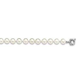 White Shell Pearl Stranded Necklace (10mm) Sterling Silver Clasp