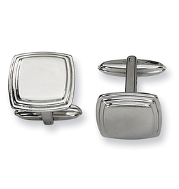 Steel Polished Cuff Links