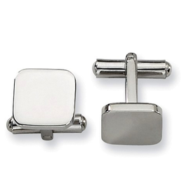 Steel Polished Cuff Links.