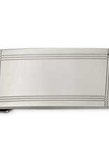 Steel Polished and Grooved Money Clip