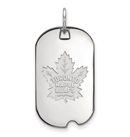 NHL Licensed NHL Licensed Toronto Maple Leafs Sterling Silver Dog Tag