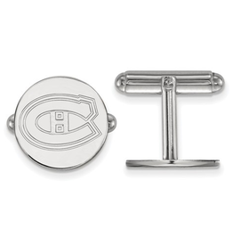 NHL Licensed Montreal Canadiens Sterling Silver Cuff Links