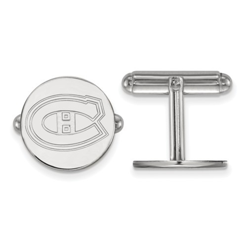 NHL Licensed NHL Licensed Montreal Canadiens Sterling Silver Cuff Links