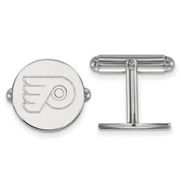 NHL Licensed Philadelphia Flyers Sterling Silver Cuff Links