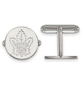 NHL Licensed Toronto Maple Leafs Cuff Links Sterling Silver