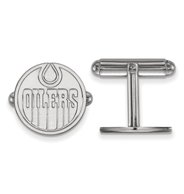 NHL Licensed Cuff Links Sterling Silver Edmonton Oilers