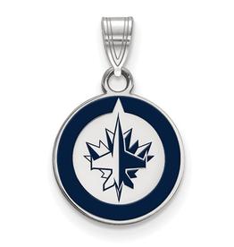 NHL Licensed NHL Licensed (Small) Winnipeg Jets Sterling Silver Enamel Pendant