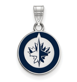 NHL Licensed Winnipeg Jets Enamel Pendant (Small)