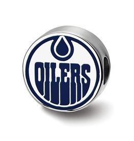 NHL Licensed Edmonton Oilers Sterling Silver Bead Charm