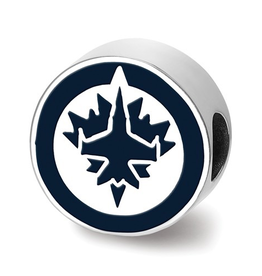 NHL Licensed Winnipeg Jets Enameled Bead